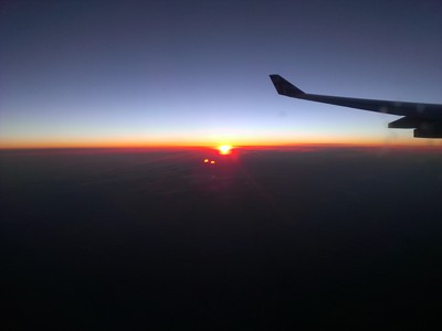 Sunsetrise somewhere over Siberia
